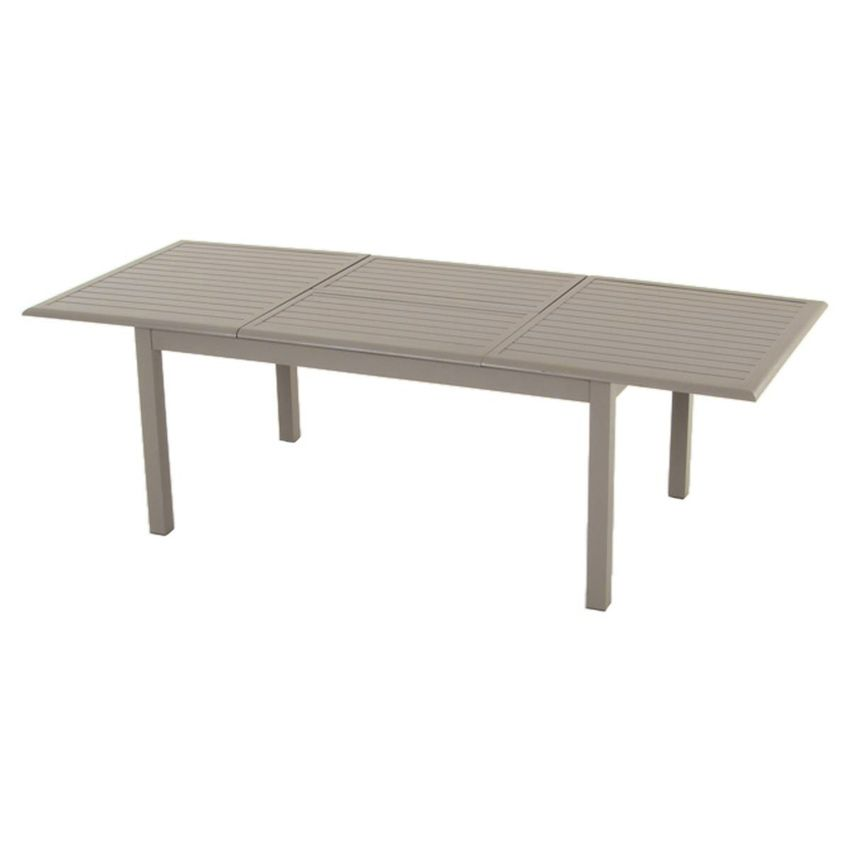 table de jardin extensible aluminium azua max 240 cm taupe table de jardin eminza. Black Bedroom Furniture Sets. Home Design Ideas