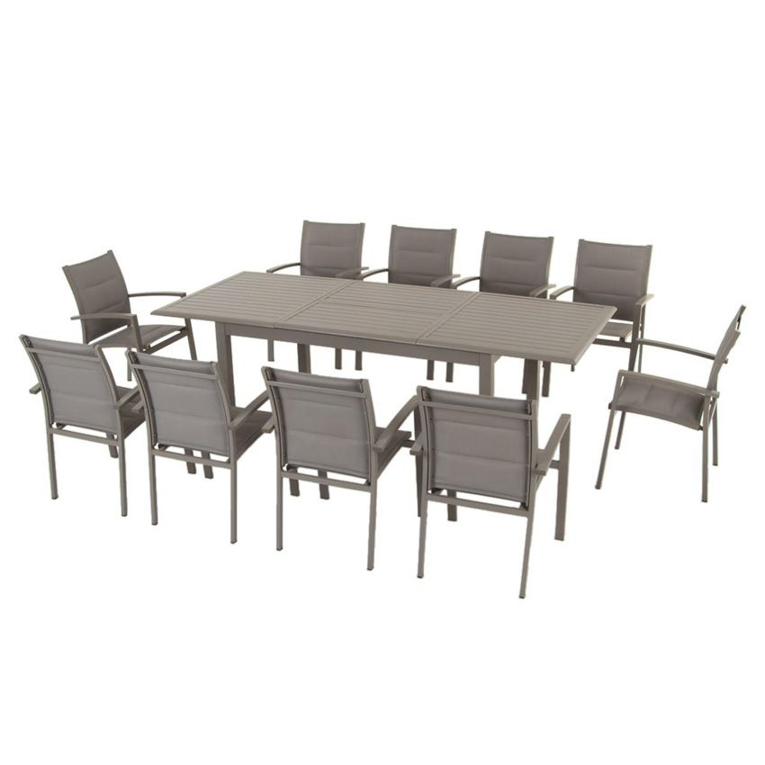 Table De Jardin Extensible Aluminium Azua Max 240 Cm Taupe Table De Jardin Eminza