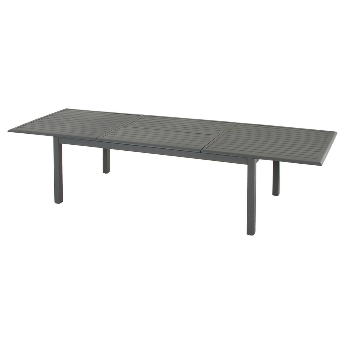 table de jardin extensible aluminium azua max 300 cm ardoise table de jardin eminza. Black Bedroom Furniture Sets. Home Design Ideas
