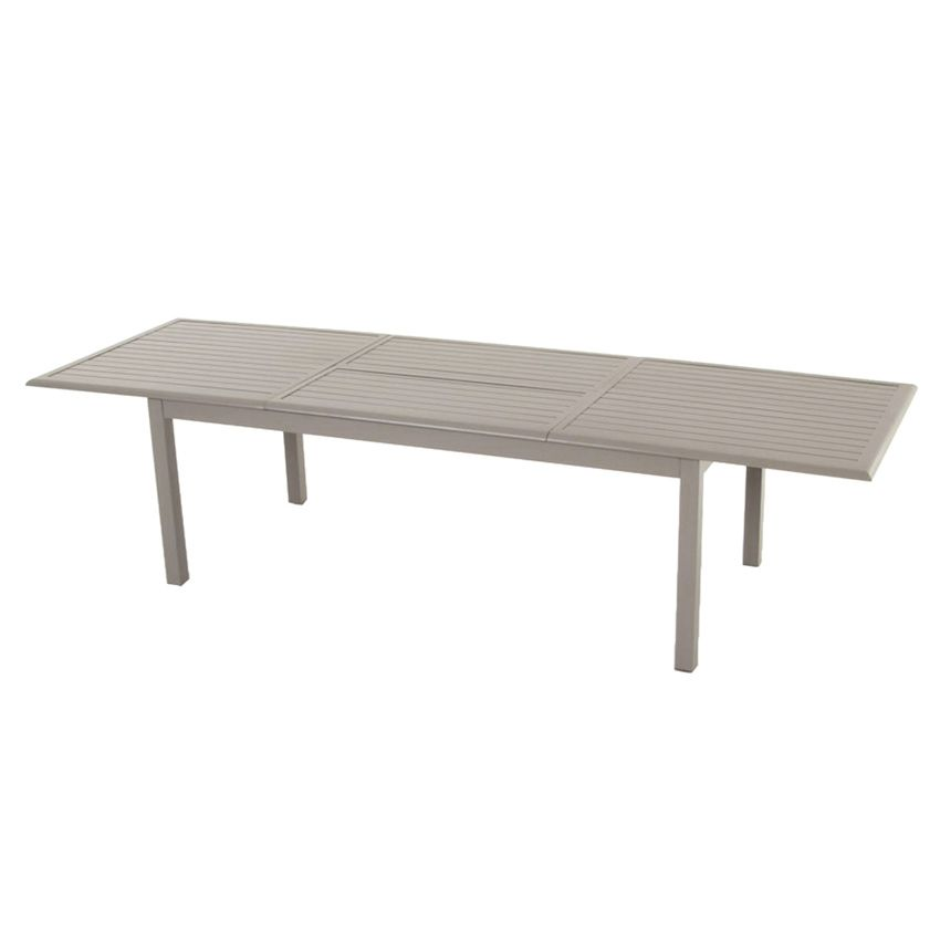 table de jardin extensible aluminium azua max 300 cm taupe table de ja. Black Bedroom Furniture Sets. Home Design Ideas