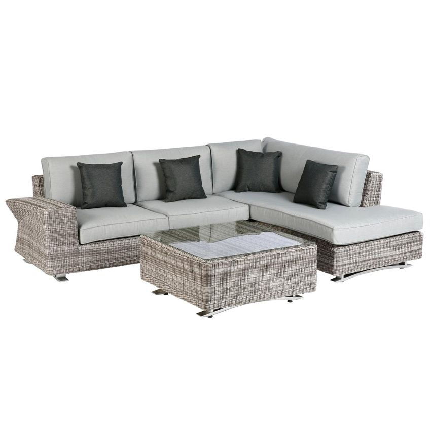 salon de jardin ambrosio taupe perle 5 places salon de. Black Bedroom Furniture Sets. Home Design Ideas