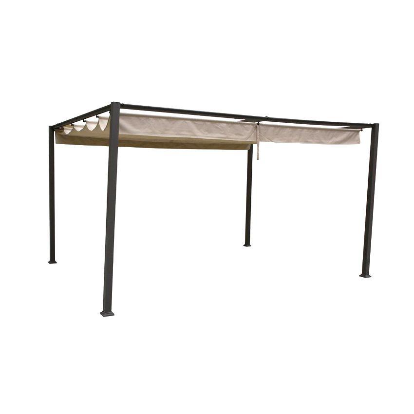 toile de tonnelle palmeira 3 x 4 m sable structure toile et rideaux eminza. Black Bedroom Furniture Sets. Home Design Ideas