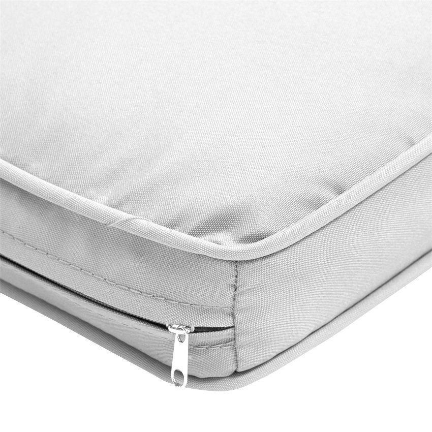 lot de 3 coussins pour salon de jardin bora bora gris clair coussin et matelas pour mobilier. Black Bedroom Furniture Sets. Home Design Ideas