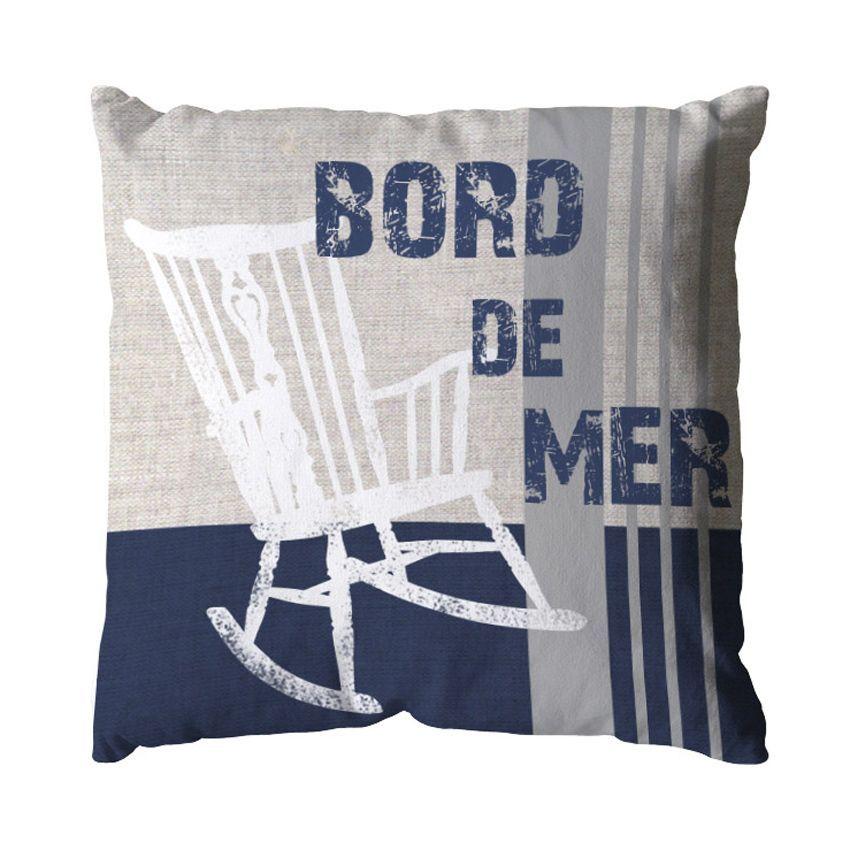 coussin bord de mer bleu coussin et housse de coussin eminza. Black Bedroom Furniture Sets. Home Design Ideas