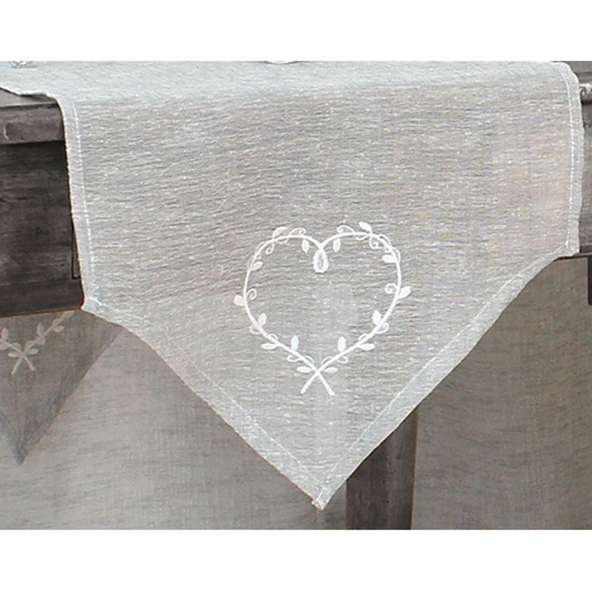 Chemin de table parcoeur gris chemin de table eminza - Chemin de table gris anthracite ...