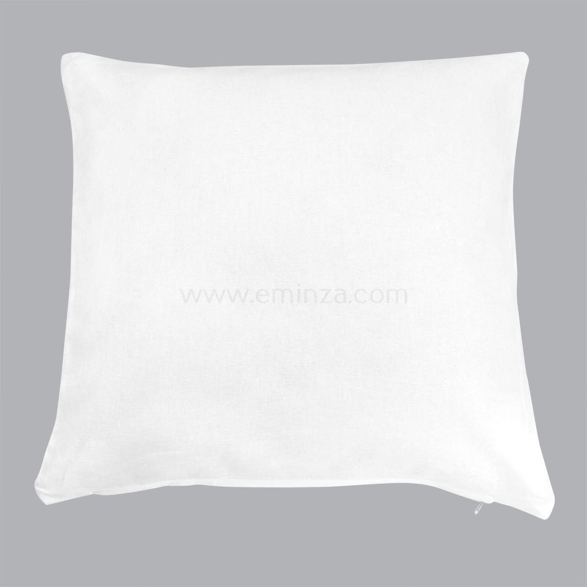 coussin 60 cm etna blanc coussin eminza. Black Bedroom Furniture Sets. Home Design Ideas