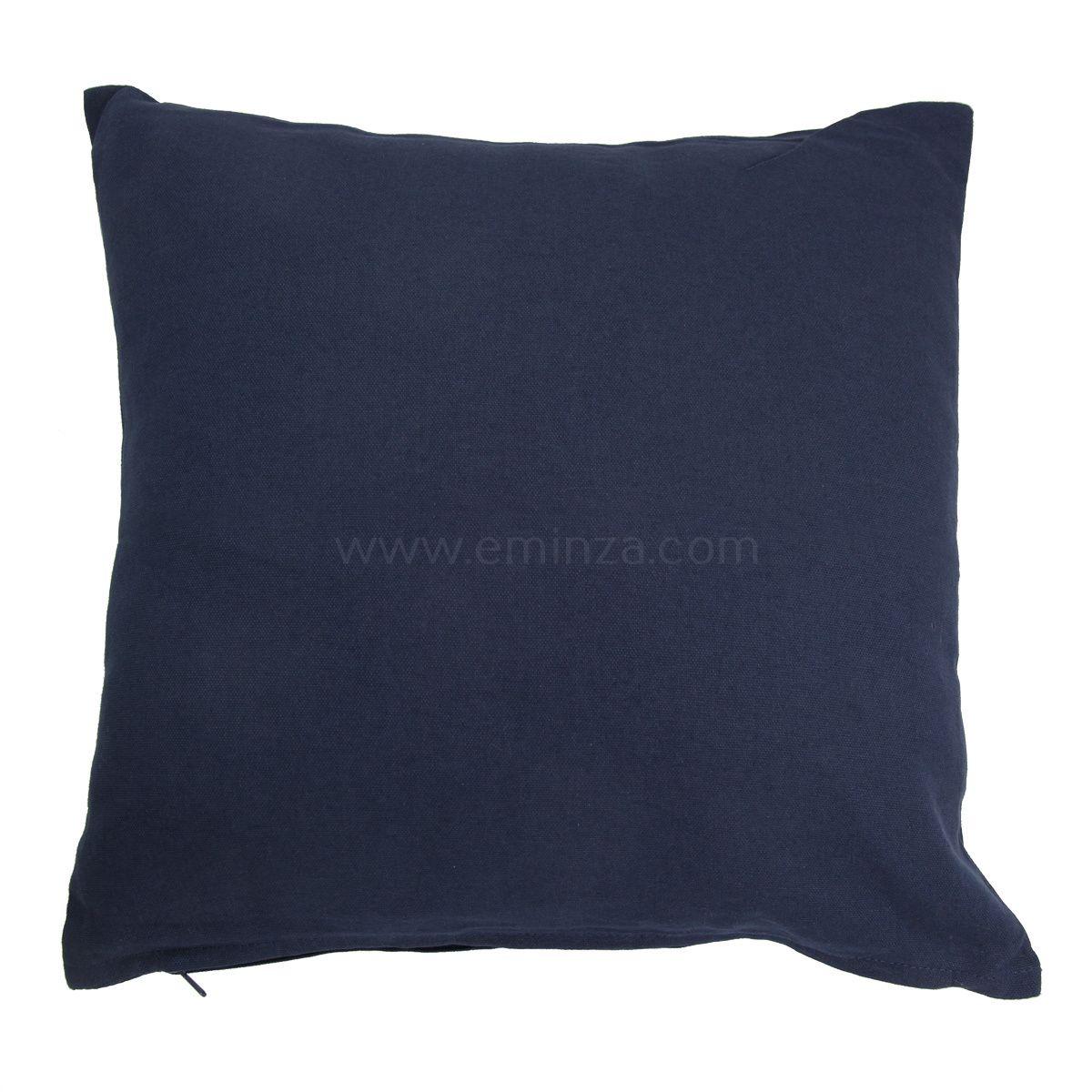 coussin 60 cm etna bleu marine coussin et housse de coussin eminza. Black Bedroom Furniture Sets. Home Design Ideas