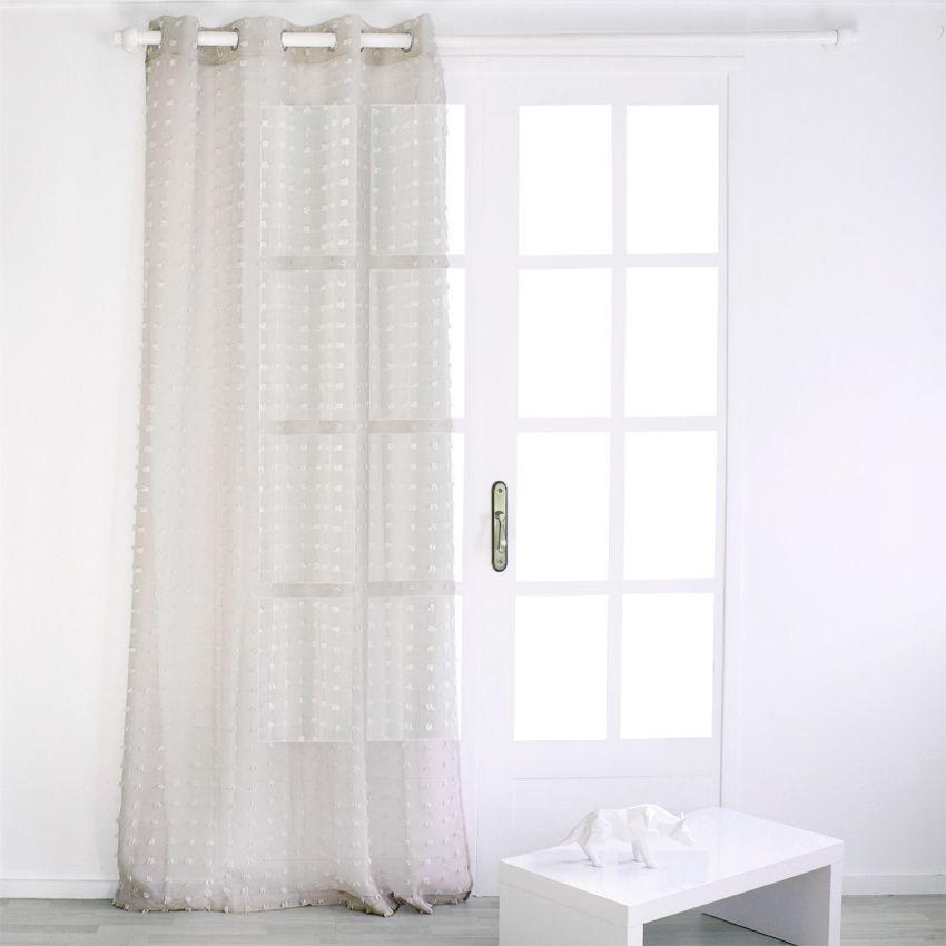 voilage 140 x h240 cm etamine poil lin voilage eminza. Black Bedroom Furniture Sets. Home Design Ideas