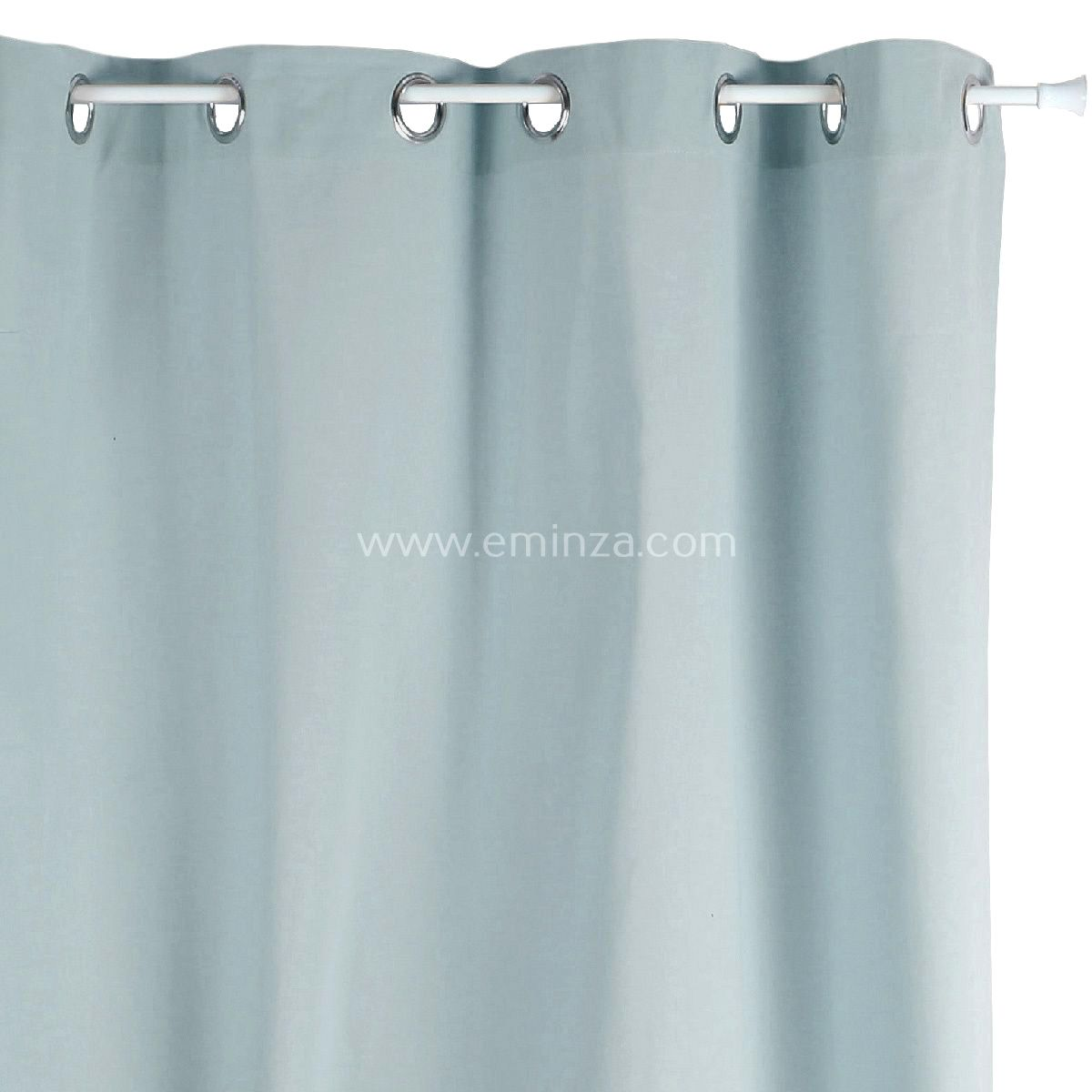 rideau tamisant 140 cm x h240 etna bleu gris rideau tamisant eminza. Black Bedroom Furniture Sets. Home Design Ideas