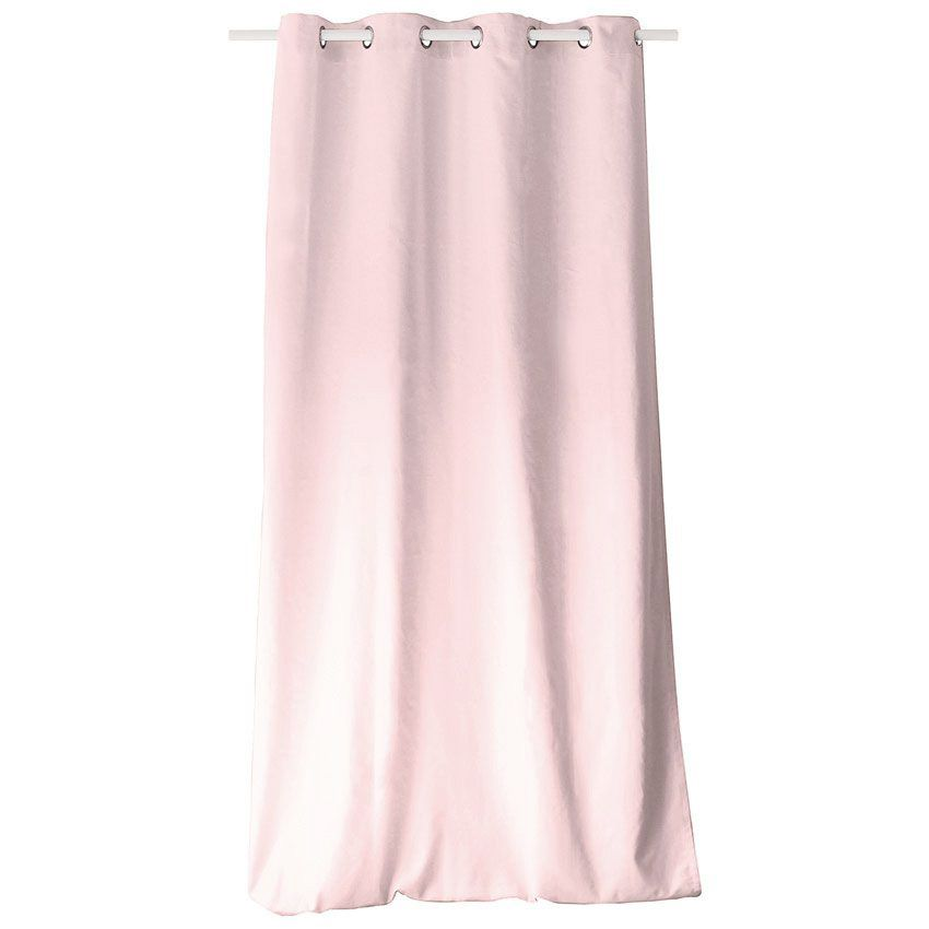 Rideau tamisant 140 cm x h240 etna rose p le rideau tamisant eminza for Rideau occultant rose pale