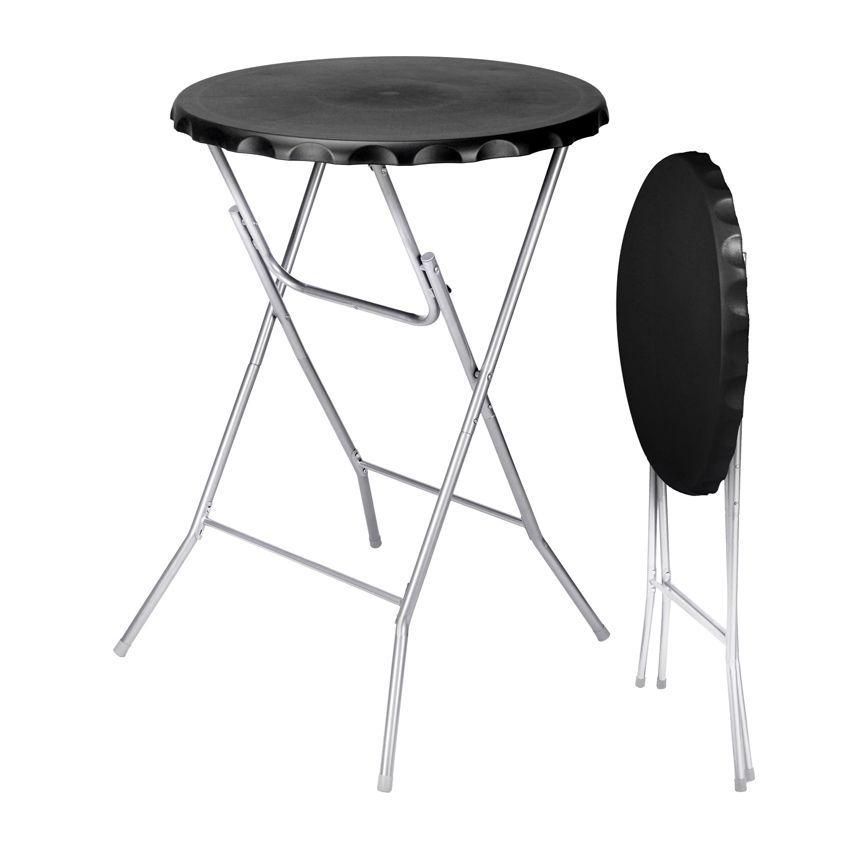 table haute pliante zahia noir meuble d 39 appoint eminza. Black Bedroom Furniture Sets. Home Design Ideas