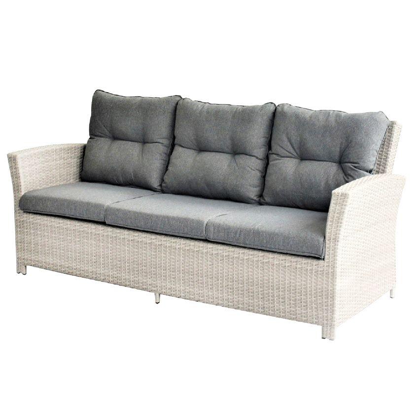 canap de jardin 3 places panama gris salon de jardin. Black Bedroom Furniture Sets. Home Design Ideas