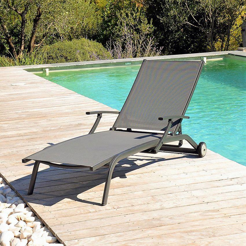 Bain de soleil marbella anthracite bain de soleil eminza for Transat gris anthracite