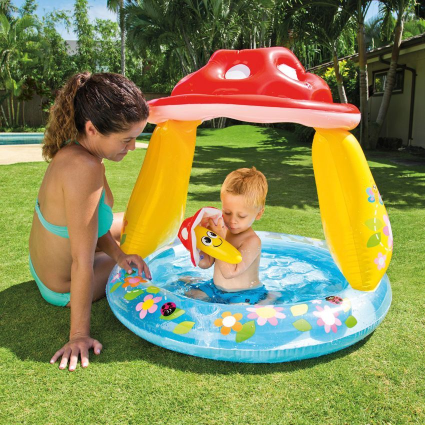Piscine gonflable pare soleil champignon intex piscine for Piscine intex gonflable