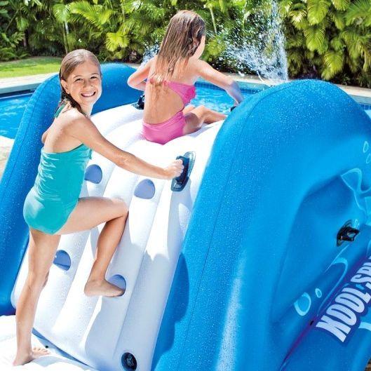 Toboggan pour piscine enterr e intex jeux et for Accessoire piscine enterree