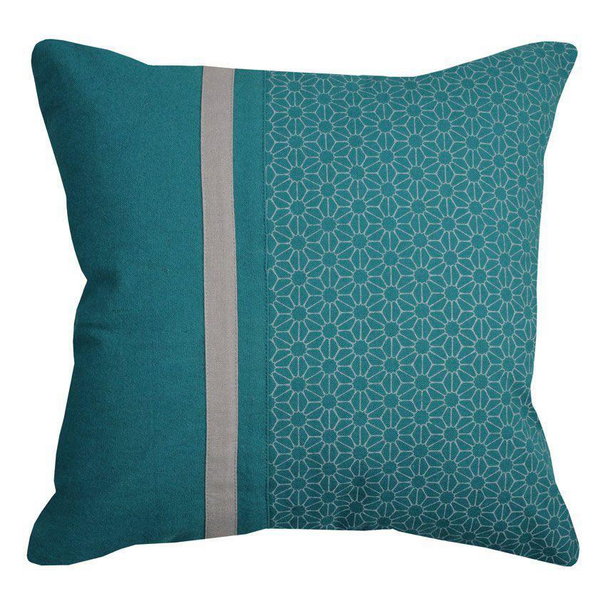 coussin sina turquoise coussin et housse de coussin eminza. Black Bedroom Furniture Sets. Home Design Ideas