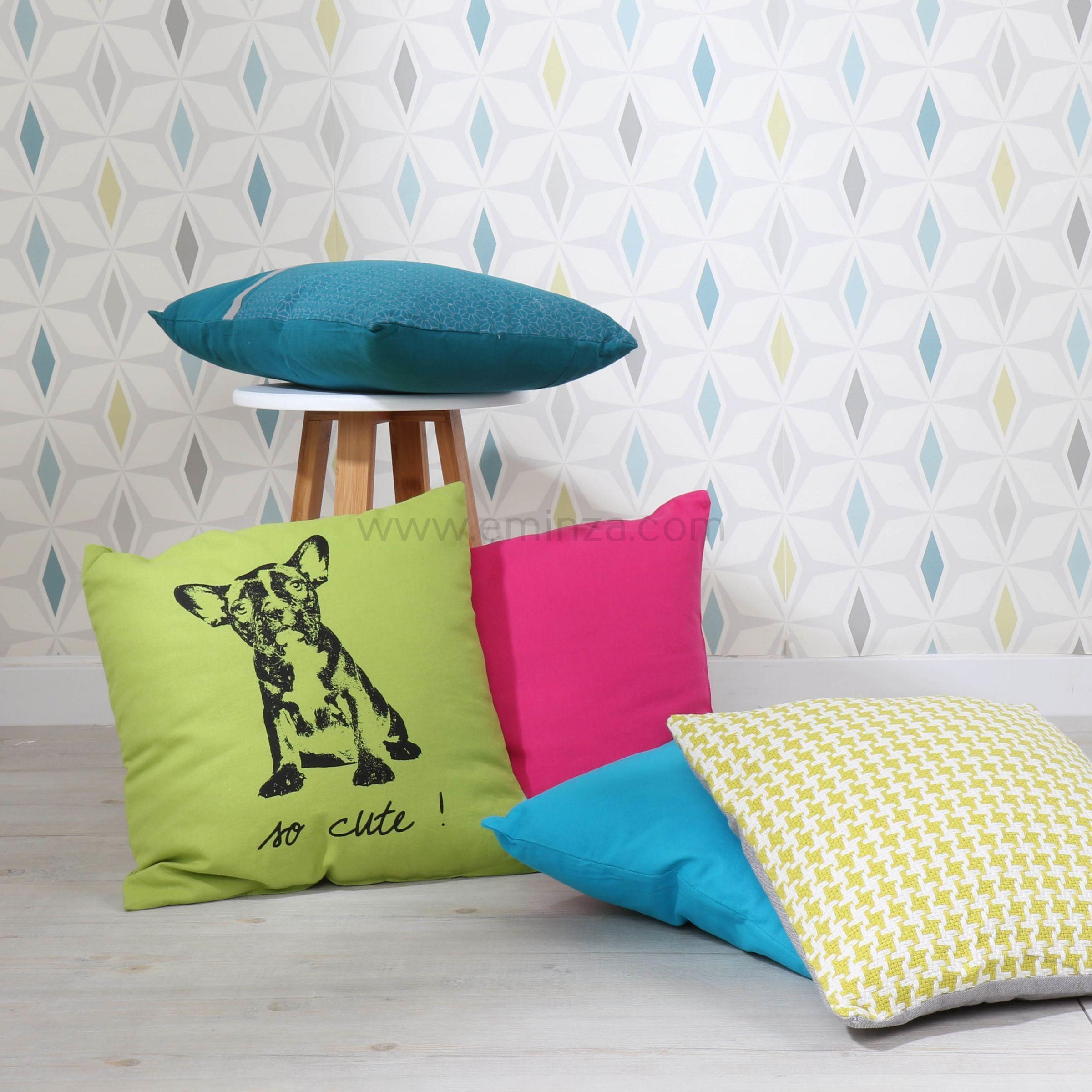 coussin pictave vert anis coussin et housse de coussin eminza. Black Bedroom Furniture Sets. Home Design Ideas