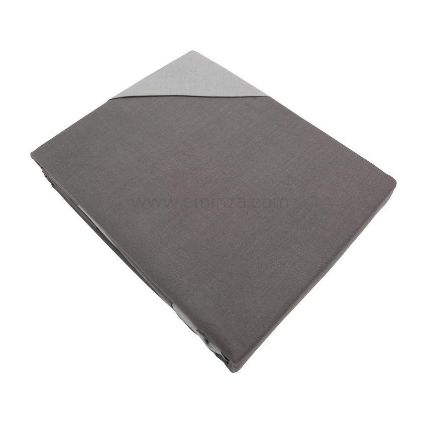 housse de couette et deux taies 200 cm bi color. Black Bedroom Furniture Sets. Home Design Ideas