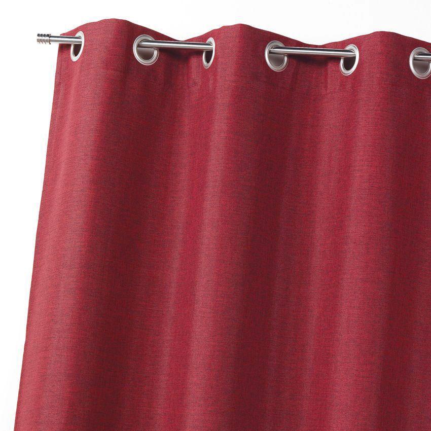 rideau occultant 140 x 260 cm faux uni bordeaux rideau occultant eminza. Black Bedroom Furniture Sets. Home Design Ideas