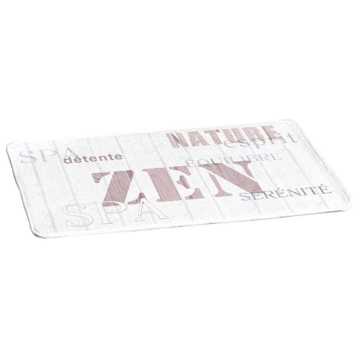 Tapis de bain zen wood tapis salle de bain eminza for Tapis de salle de bain zen