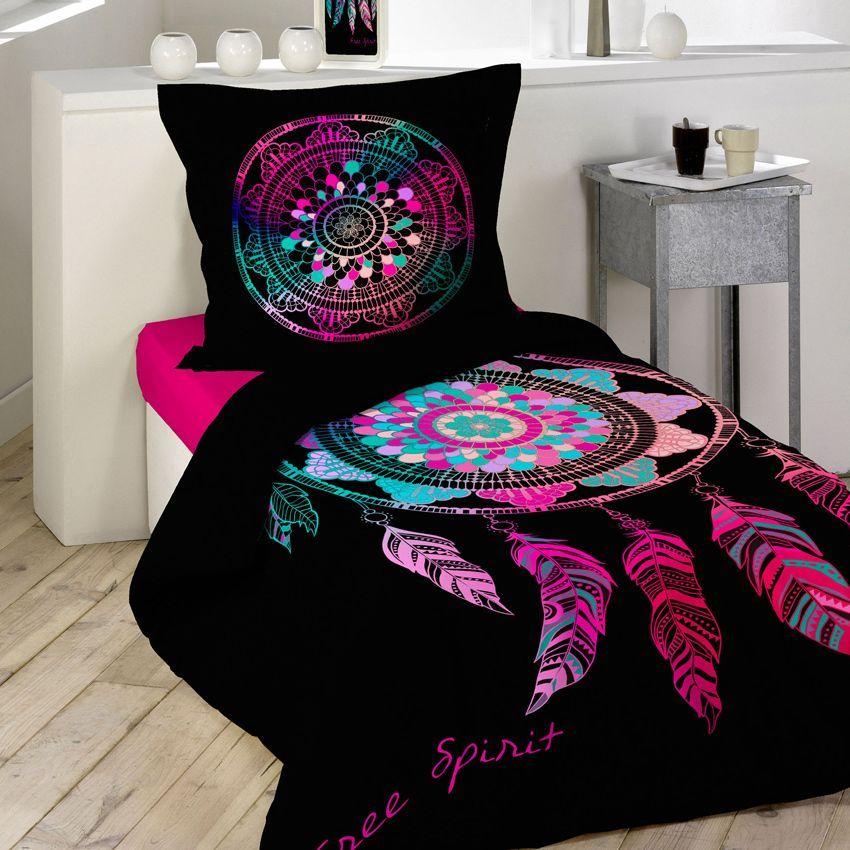 housse de couette et une taie 140 cm porte bonheur. Black Bedroom Furniture Sets. Home Design Ideas