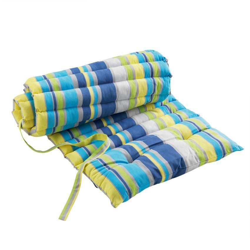 Coussin bain de soleil marina bleu coussin de bain de for Housse bain de soleil