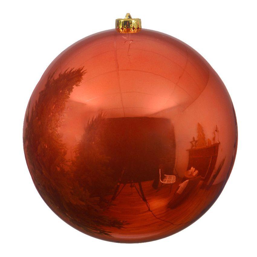 boule de no l d140 mm alpine orange safran boule de. Black Bedroom Furniture Sets. Home Design Ideas