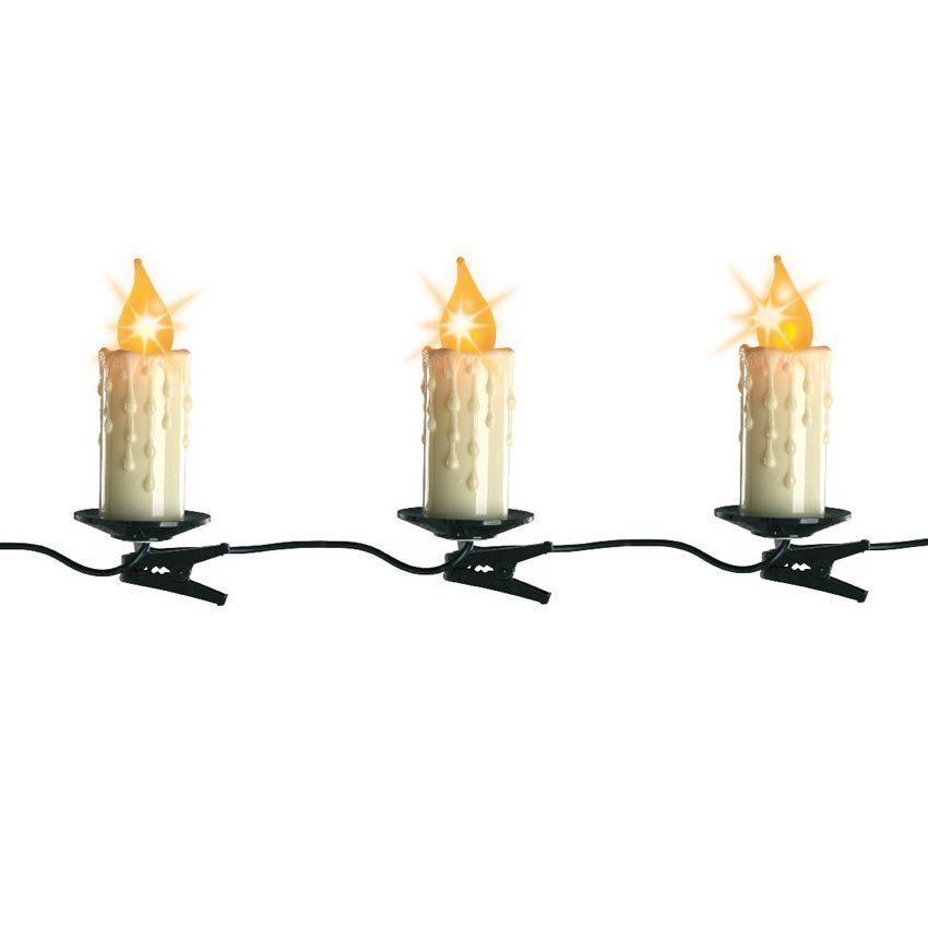 guirlande lumineuse bougie 6 m blanc chaud 16 led guirlande lumineuse eminza. Black Bedroom Furniture Sets. Home Design Ideas