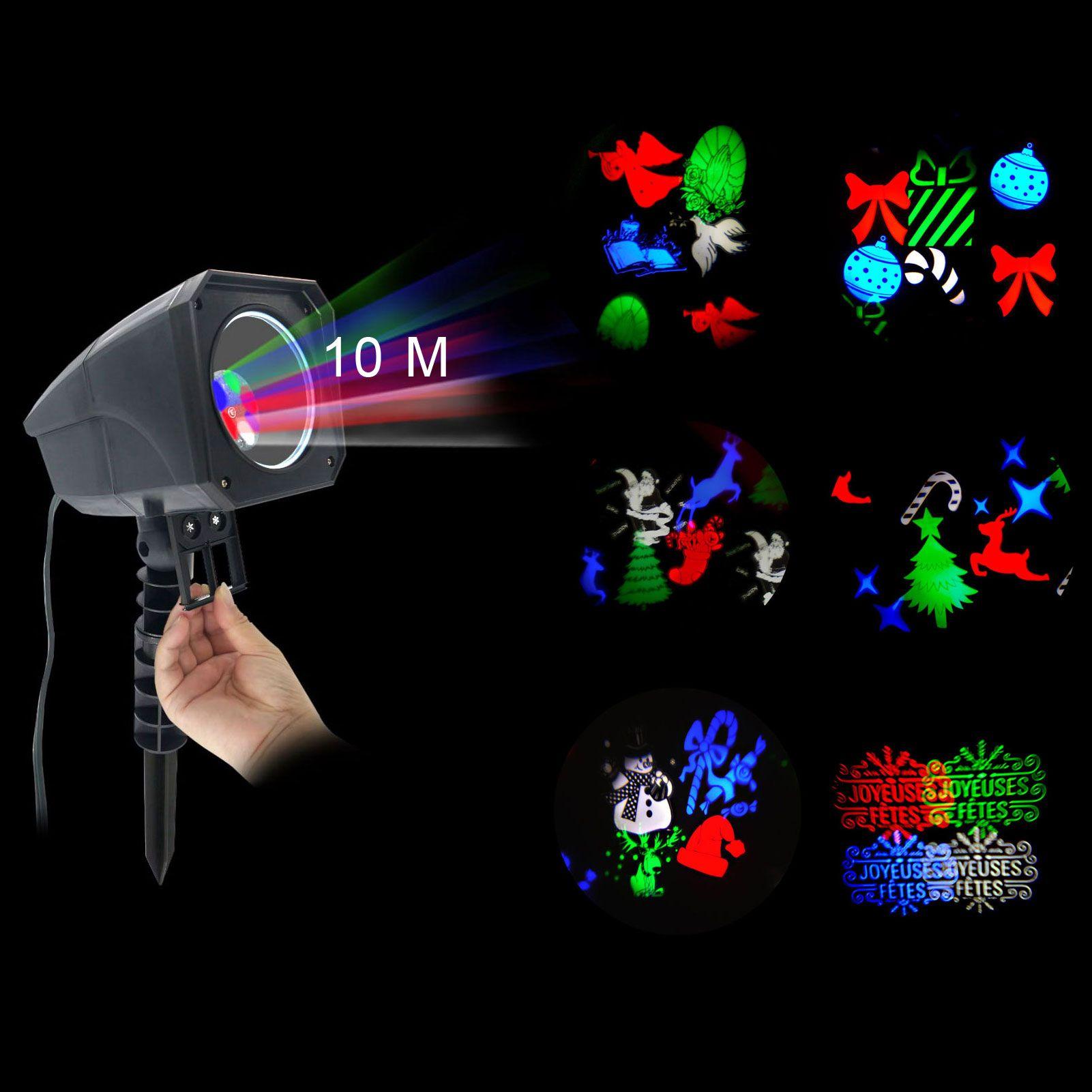 Projecteur laser films avec t l commande multicouleur 4 for Projecteur laser noel facade