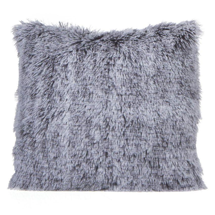 coussin fausse fourrure 40 cm bichou gris coussin et housse de coussin eminza. Black Bedroom Furniture Sets. Home Design Ideas