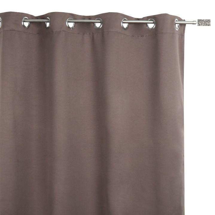 rideau obscurcissant isolant calore 180 x h260 cm taupe rideau isolant eminza. Black Bedroom Furniture Sets. Home Design Ideas