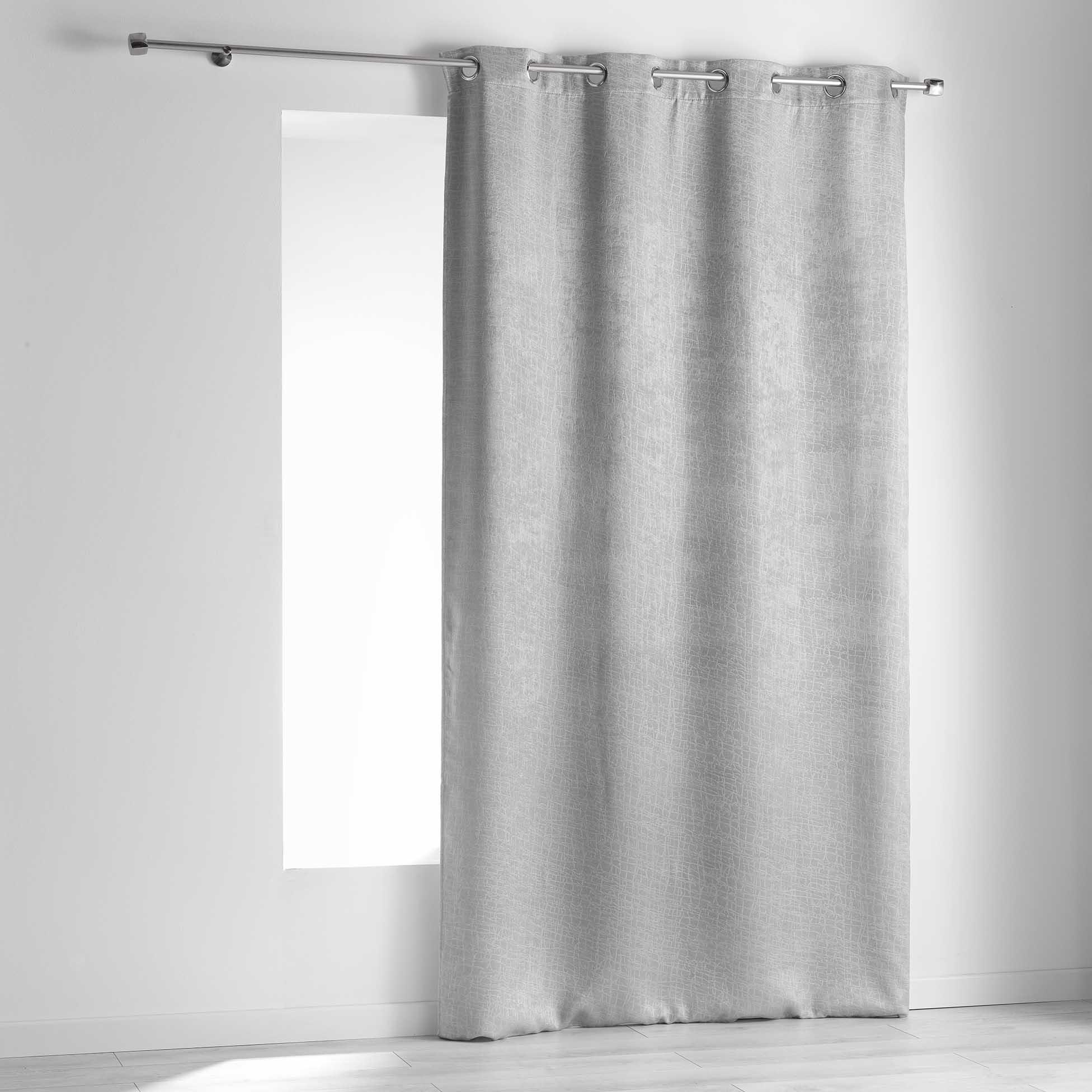 eminza rideaux occultants free eminza rideau occultant x h cm metallia gris with eminza rideaux. Black Bedroom Furniture Sets. Home Design Ideas