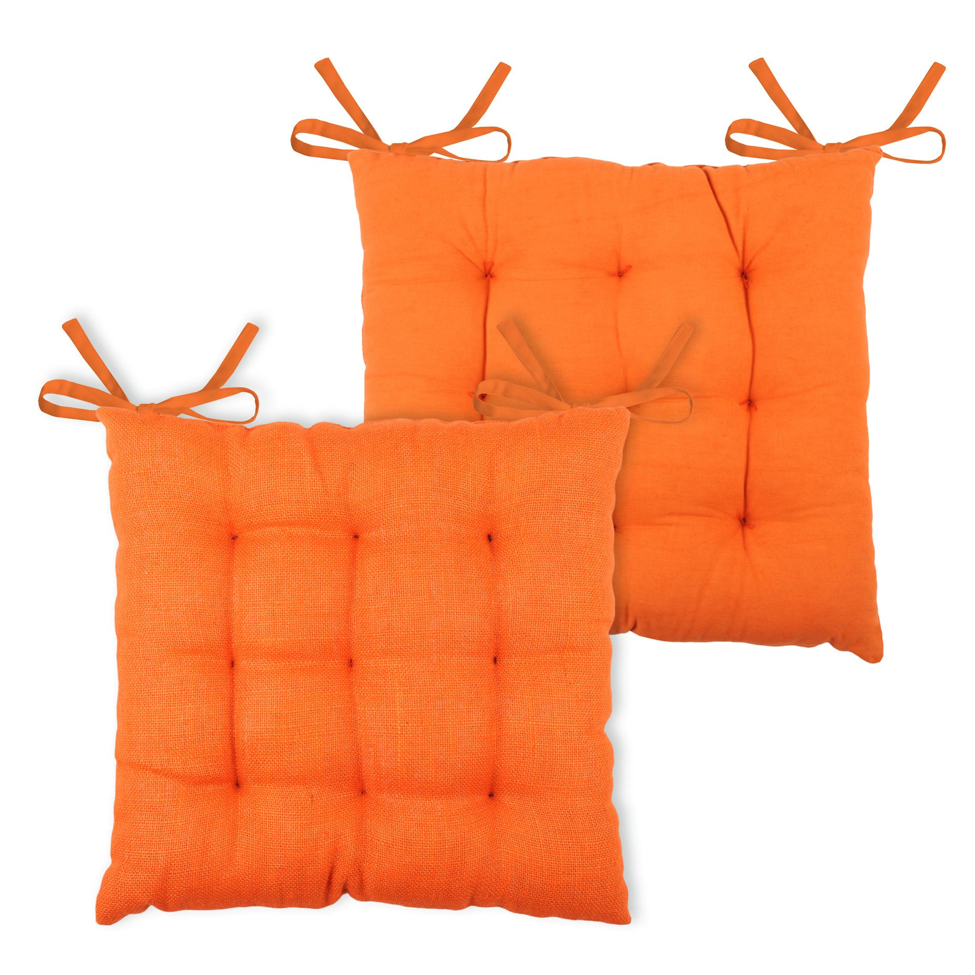 coussin de chaise jute orange galette et coussin de chaise eminza. Black Bedroom Furniture Sets. Home Design Ideas