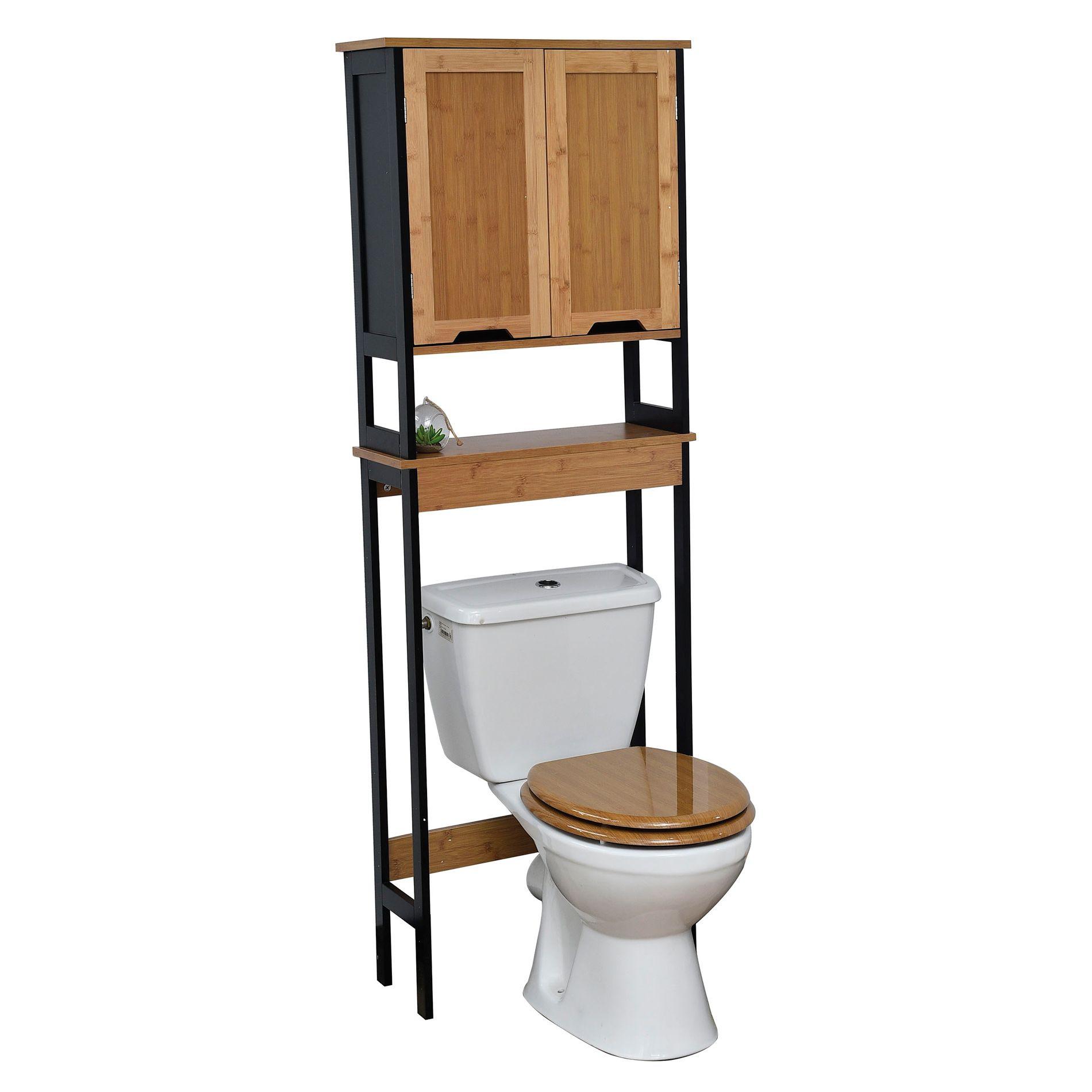 meuble dessus wc phuket bambou et noir dessus wc eminza