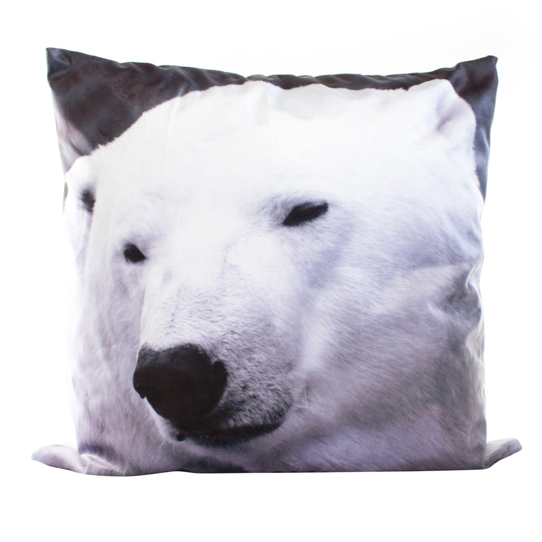 coussin poils longs 60 cm preston blanc coussin et housse de coussin eminza. Black Bedroom Furniture Sets. Home Design Ideas