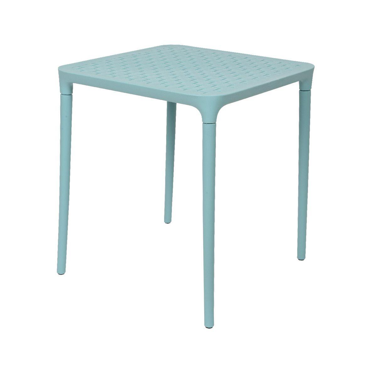 Table de jardin carrée Porto - Bleu clair - Table de jardin - Eminza