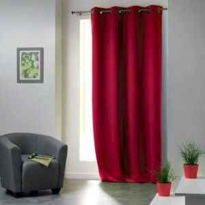 Rideau occultant (135 x H260 cm) Cocoon Rouge
