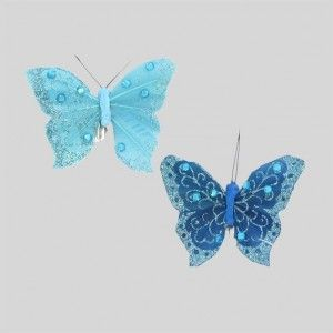 Lot de 2 Papillons Loona Turquoise