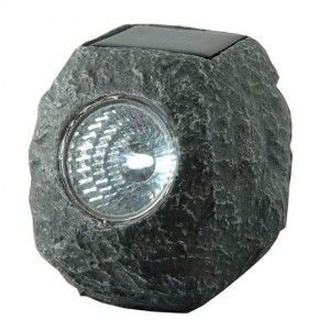 Solarlamp steen LED - warm wit