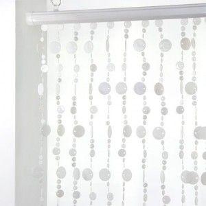 Rideau de porte perles plates blanc rideau de porte eminza - Rideau de porte en perles ...