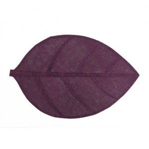 Set de table Feuille Prune
