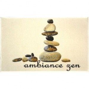 Tapis de cuisine XXL (115 cm) Ambiance stones