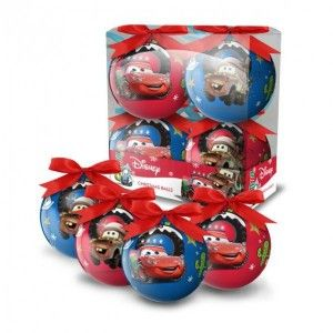 Lot de 4 boules de Noël Disney Cars
