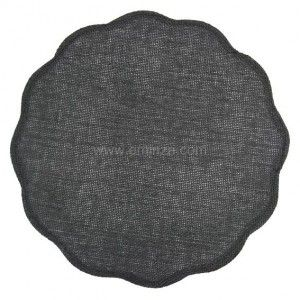 Set de table Fleur Anthracite