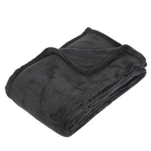Plaid doux (150 cm) Tendresse Anthracite