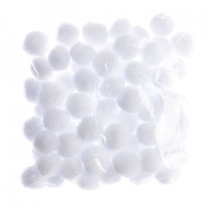 Sacchetto di 80 palline di neve decorative