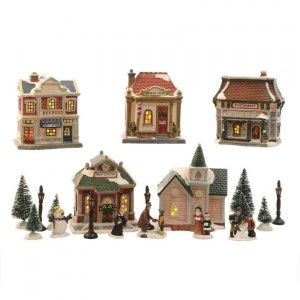 Set completo villaggio luminoso  BBoutique de sapin Merry Christmas