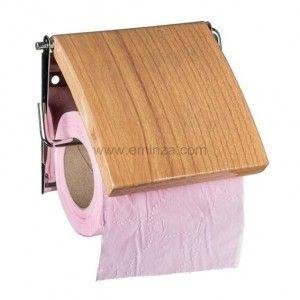Porte papier toilettes style peuplier bois bambou porte papier toilette eminza - Porte papier toilette bois ...