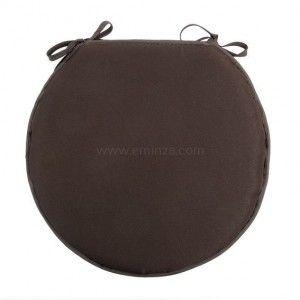 galette de chaise ronde nelson chocolat galette et coussin de chaise eminza. Black Bedroom Furniture Sets. Home Design Ideas
