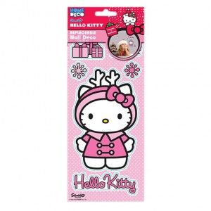 Raamstickers herkleefbaar Hello Kitty